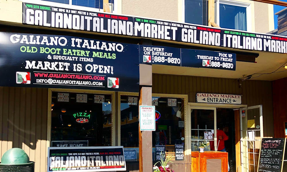 Galiano Italiano Market at The Old Boot Eatery
